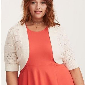 Torrid Chevron Pointelle Bolero Shrug